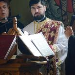 parintele arhid.  Alexandru Mirel Laudat (fostul cantaret al parohiei)